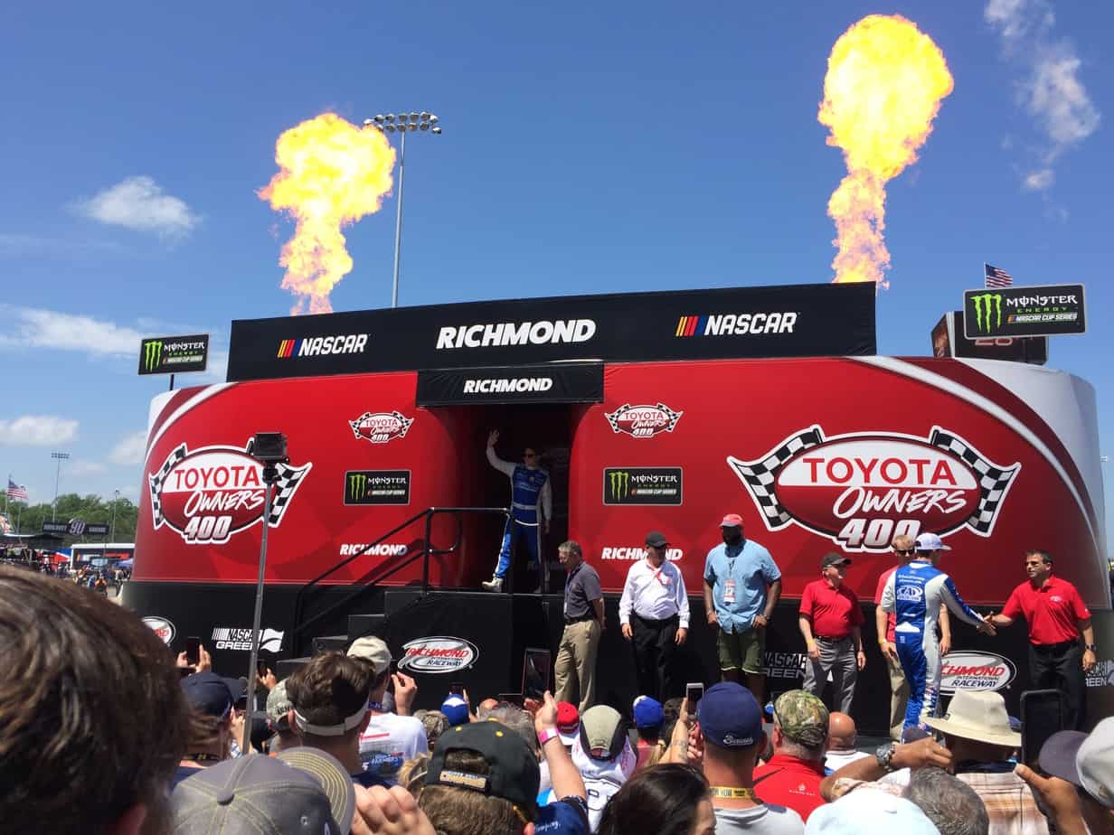 Driver Introductions Featuring Pyrotechnics