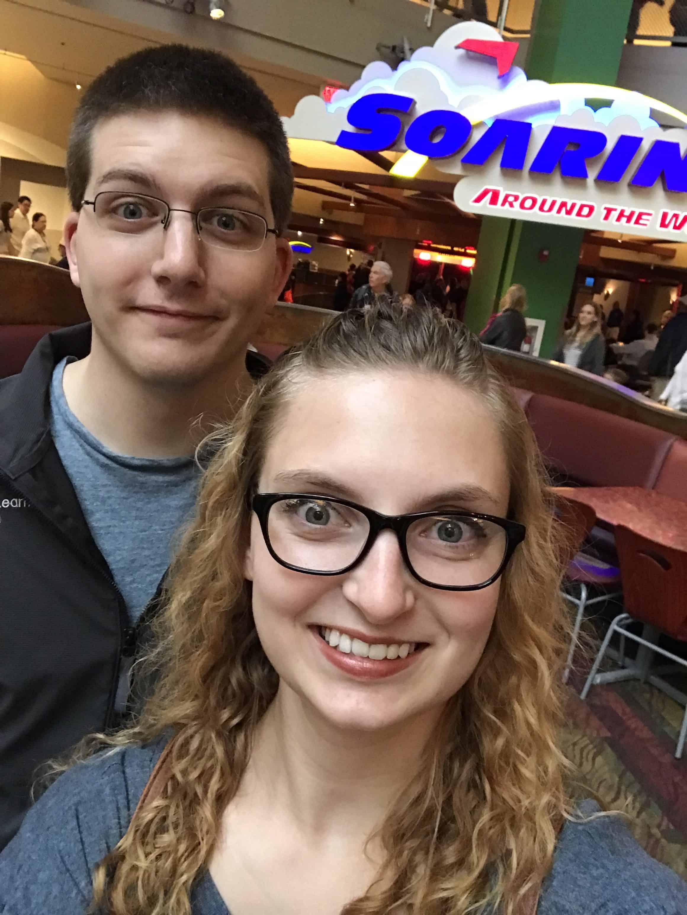 Pre-engagement Selfie at Soarin'
