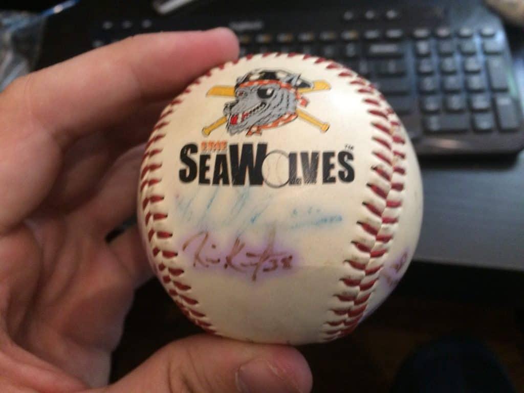 Seawolves Signed Baseball Front