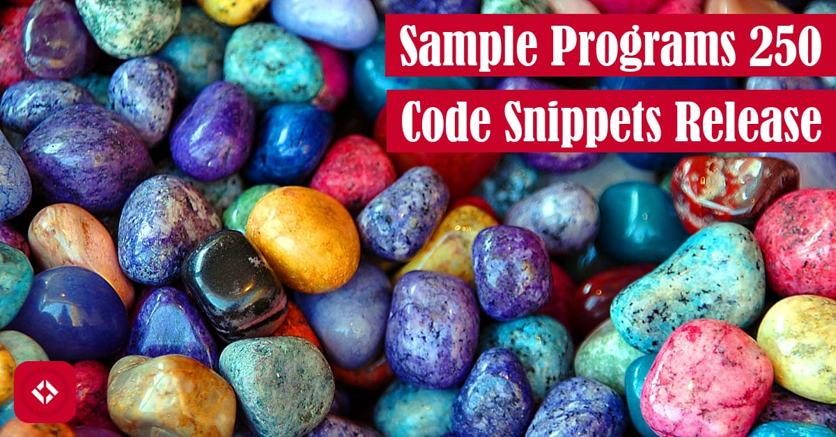 Sample Programs 250 Code Snippets Release Featured Image