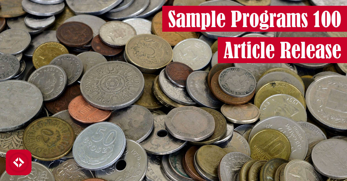 Sample Programs 100 Article Release Featured Image