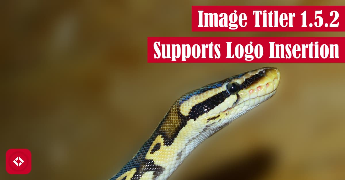 Image Titler 1.5.2 Supports Logo Insertion Featured Image