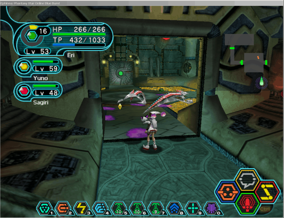 Walled Off by Invisible Enemies in Phantasy Star Online