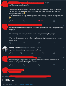 HTML Is Not a Programming Language