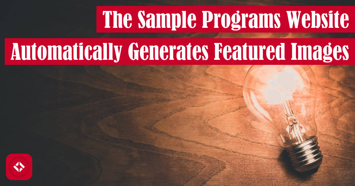 The Sample Programs Website Automatically Generates Featured Images Featured Image